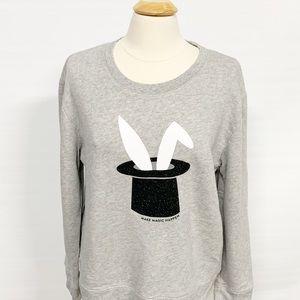 kate spade | bunny make magic happen sweatshirt XL